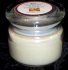wickless palm wax candle