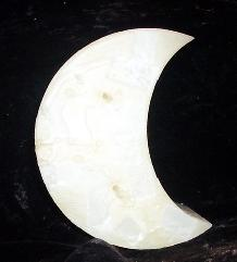 large crescent moon candle